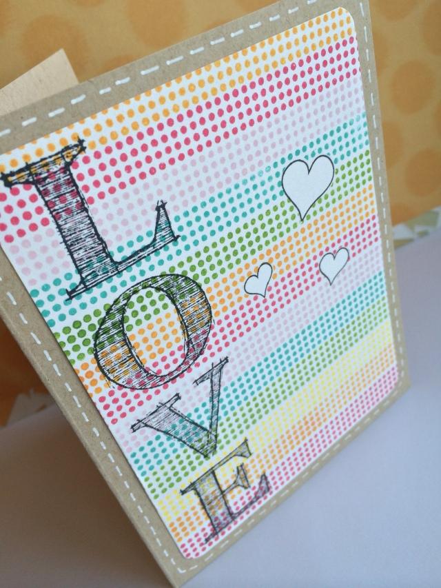 tarjeta Colores arco iris